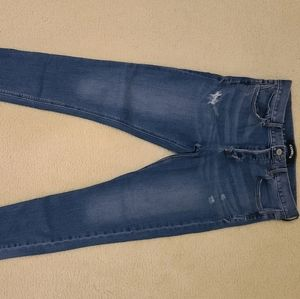 Express Sz 6 Midrise Button Fly Skinny Jeans